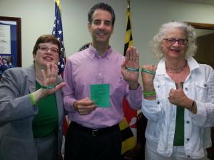 Congressman John Sarbarnes, Board Members Cynthia Campbell, Sonia Socha